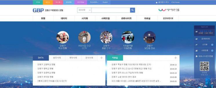 강동구 '빅데이터 포털' 이용자 중심 개편