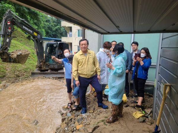 이형석 의원, 수해현장 찾아 피해 점검·복구 총력