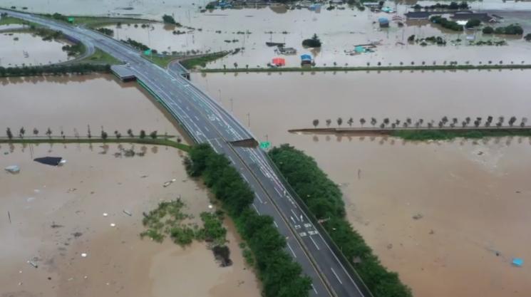 구례군, 폭우로 섬진강·서시천 범람…역대급 피해 발생