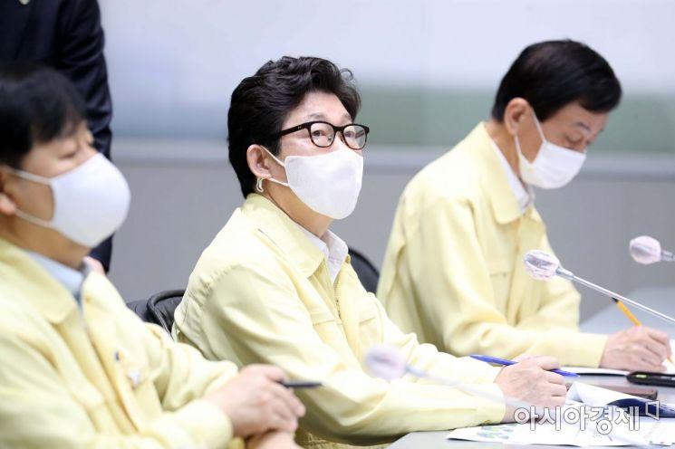 [포토]태풍 점검회의 참석한 조명래 장관