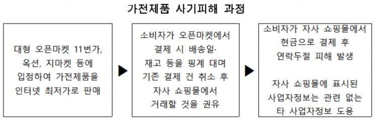 """""""오픈마켓 대신 쇼핑몰서 현금 결제하면 할인""""…알고보니 '사기'"""