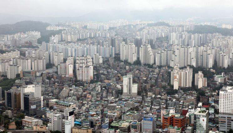 11일 63빌딩에서 본 서울 시내 아파트 모습. [이미지출처=연합뉴스]