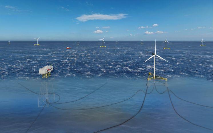 동해 부유식 풍력발전단지 조감도.