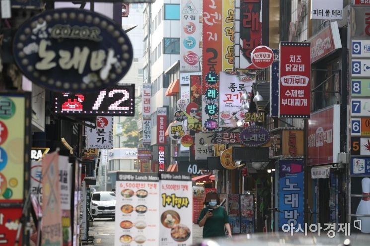 코로나19 확산 여파로 한산해진 서울 종각 젊음의 거리. 사진은 기사와 무관함 /문호남 기자 munonam@