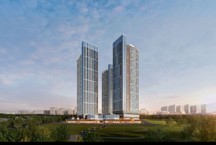 현대건설, '힐스테이트 고덕 스카이시티' 청약 경쟁률 평균 28.65대 1