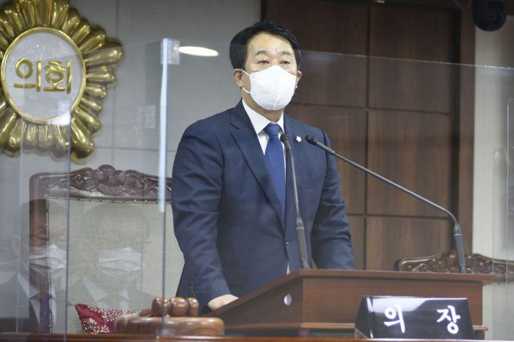 허유인의장, 긴급재난지원금 관련 원 포인트 의회 안 열겠다