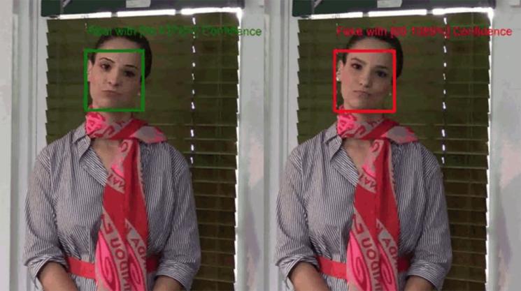 마이크로소프트가 지난 1일(현지시간) 공개한 '어센터케이터.' 화면에서 딥페이크 편집이 이뤄진 부분을 감지해 영상의 진위 여부를 판별한다. / 사진=마이크로소프트