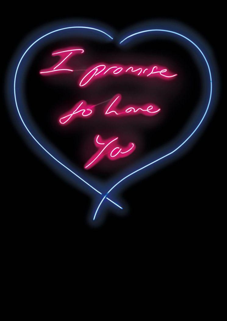 트레이시 에민 'I Promise to Love You', neon, 145.8×143㎝ (edition 3/3), 2010, 추정가 2억5000만~3억원  [사진= 케이옥션 제공]