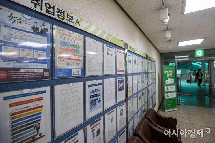 신종 코로나바이러스 감염증 사태가 장기화에 따른 구직난이 이어지고 있는 지난해 9월 서울 한 대학 취업게시판에 취업정보가 게시된 모습./강진형 기자aymsdream@