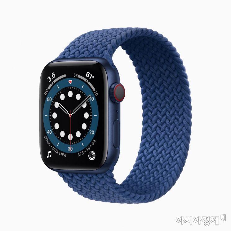 애플워치 6 블루 컬러