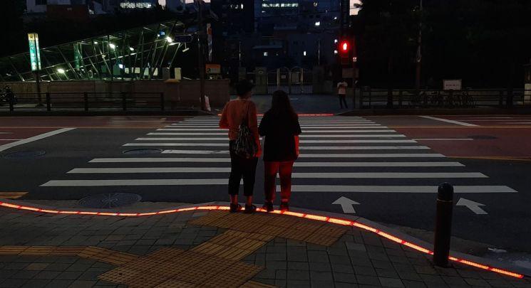서울 중구, 등하굣길 횡단보도 바닥신호등 19개소 설치