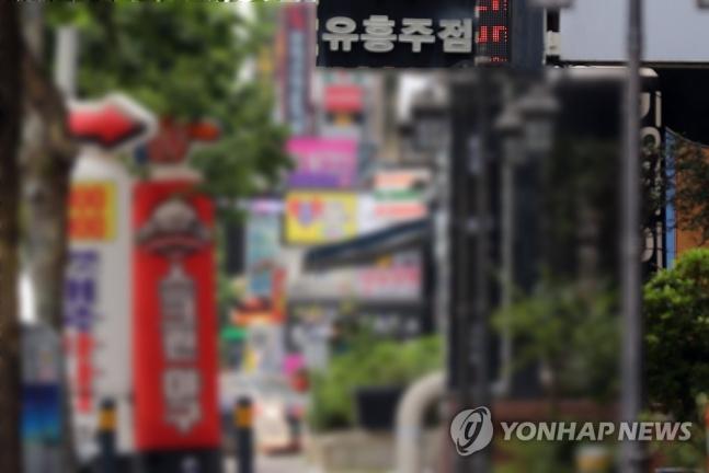 광주 상무지구 유흥업소 밀집 거리./사진=연합뉴스