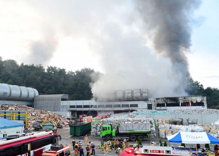 수원시, 불난 자원순환센터 업무차질 최소화위해 '긴급대책반' 가동