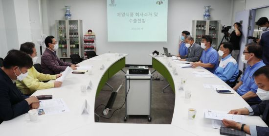 김영록 전남지사 '농식품 수출 우수기업' 방문