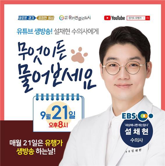 경기도, 21일 '유기동물 입양 활성화' 온라인 생방송