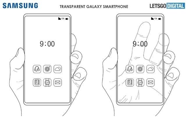 네덜란드 IT매체 레츠고디지털에서 공개한 삼성전자 투명 스마트폰 렌더링 이미지