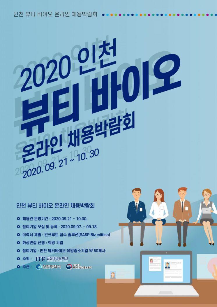 인천 뷰티·바이오 채용박람회…내달 30일까지 온라인 진행