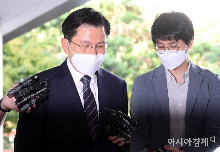 [포토] 패스트트랙 첫 재판 향하는 황교안