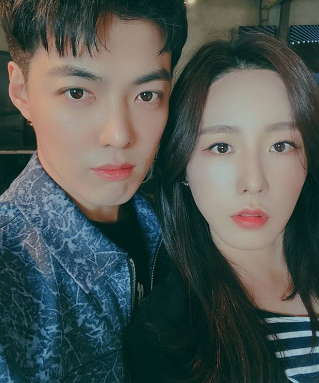 강남(왼쪽) 이상화 부부. 사진=강남 SNS 캡처.