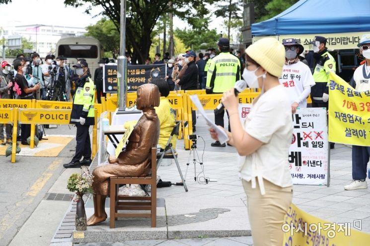 [포토]수요시위와 맞불집회