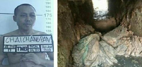 인도네시아서 마약 밀매로 붙잡힌 중국인, 6개월 준비해 하수구로 탈옥. 사진=Tempo 제공.