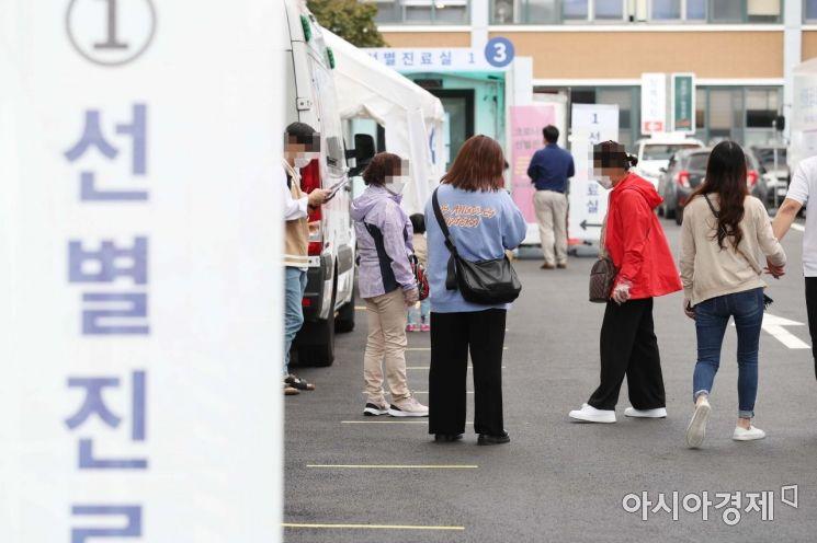 [포토]코로나 검사 기다리는 시민들