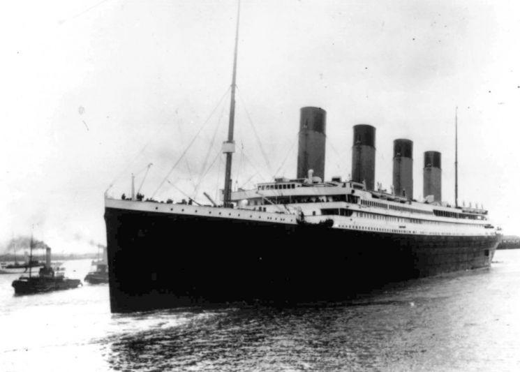▲1912년 출항당시 타이태닉호 [이미지출처=AP연합뉴스]