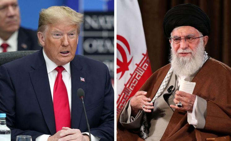 도널드 트럼프 미국 대통령(왼쪽)과 아야톨라 알리 하메네이 이란 최고지도자 [이미지출처=EPA연합뉴스]