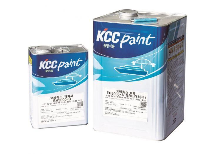 KCC의 무용제 도료 '코레폭스(Korepox) H.B. EH3000'. [사진=KCC]