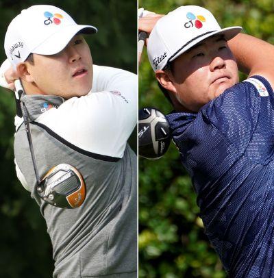 김시우(왼쪽)와 임성재가 더CJ컵에서 한국인 첫 우승에 나선다.