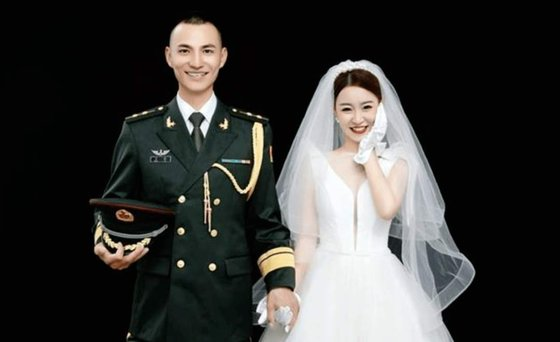 위신후이의 약혼 사진 [이미지출처 = 웨이보 캡처]