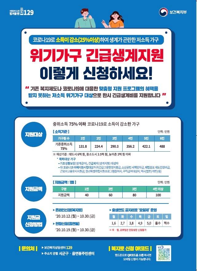 성북구 '위기가구 긴급생계비' 최대 100만원 지원