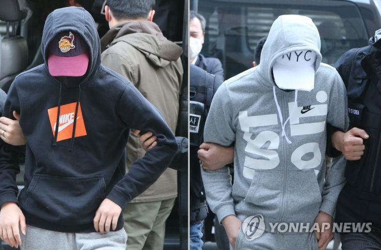 '인천 여중생 집단 성폭행' 가해 남학생 2명 / 사진=연합뉴스