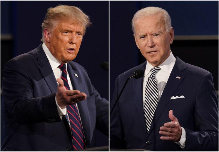 도널드 트럼프 미국 대통령(왼쪽)과 조 바이든 미 민주당 대선 후보 [이미지출처=AP연합뉴스]