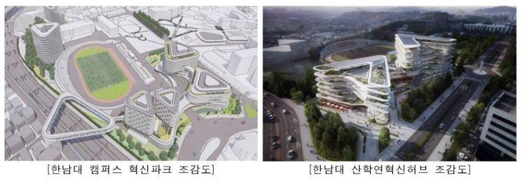 한남대 캠퍼스 혁신파크 조감도 (제공=국토교통부)