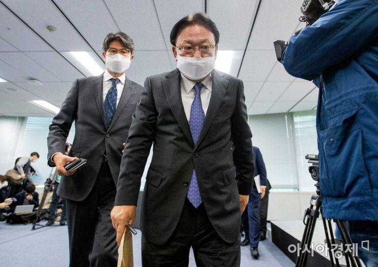[포토]사과문 발표 마친 박근희 CJ대한통운 대표이사