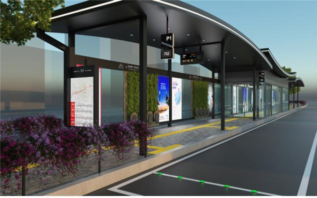 서울시가 추진하는 스마트쉘터 조감도. 시는 올해 시범사업 10곳을 시작으로 2023년까지 서울시내 373곳에 미래형 버스정류소인 스마트쉘터를 설치·운영할 계획이다.