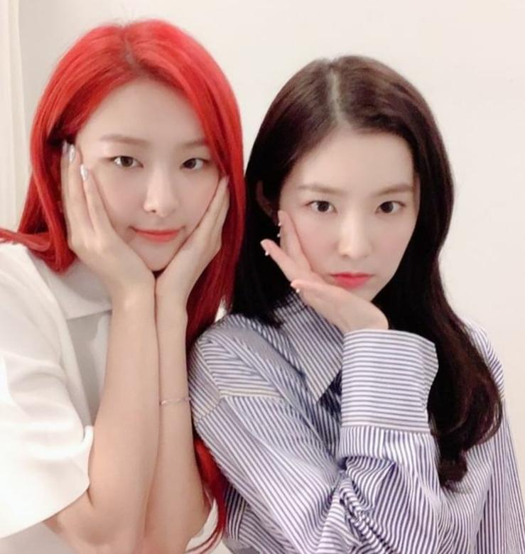 레드벨벳 아이린, 슬기. 사진=레드벨벳 공식 인스타그램 캡처.