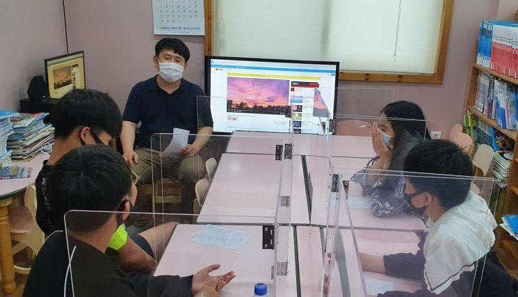 한울본부 지역아동센터 재능 나눔 봉사활동 모습.