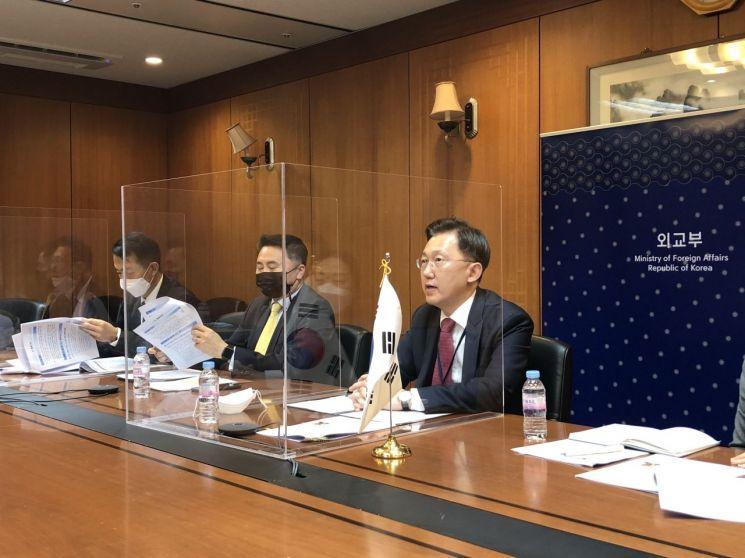 한·영 국제기구장 화상회의… WTO 등 국제기구 선거 협력 방안 논의