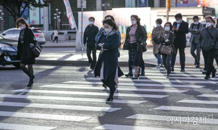 [포토]쌀쌀한 출근길