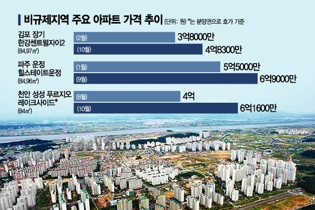 """""""풍선효과로 1억 올라""""…김포·천안·부산 집값 '급등'"""