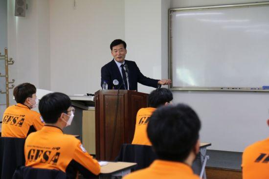 마재윤 전남소방본부장, 새내기 소방공무원과 '소통의 시간'
