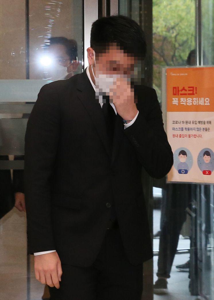 [포토] 고개 떨군 이재용 부회장 아들 이지호 씨