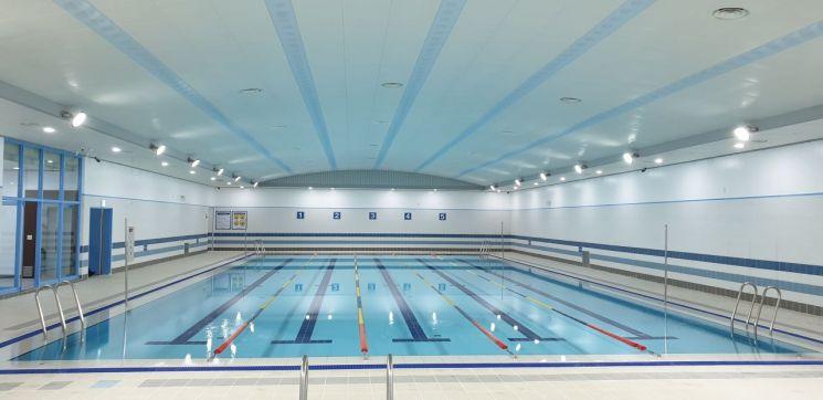 성동구립용답체육센터 내 조성된 수영장