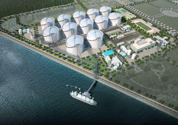 동북아 LNG Hub 터미널 상세 조감도. (자료제공=한양)