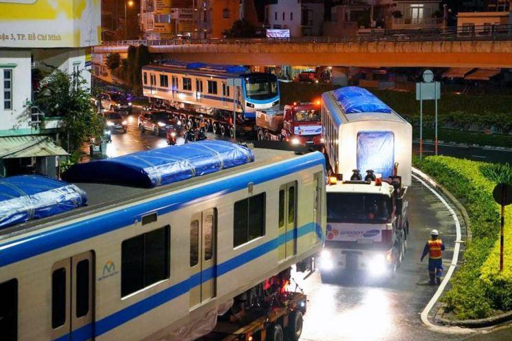 CJ대한통운 베트남 호치민서 메트로 1호선 전동차 운송