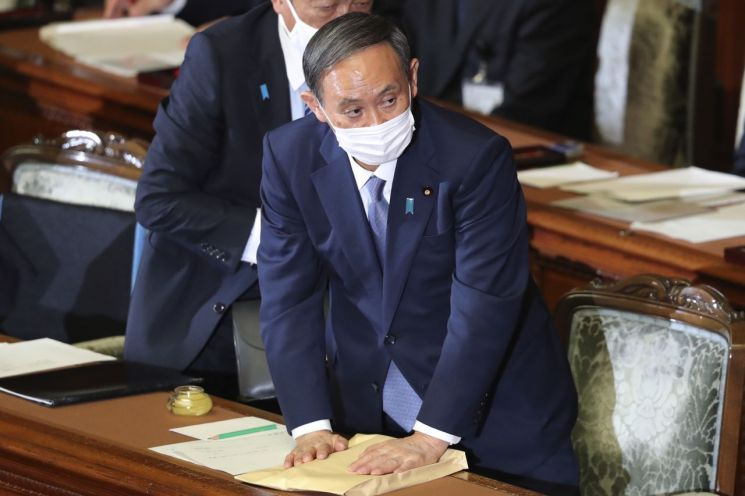 ▲스가 요시히데 일본 총리 [이미지출처=AP연합뉴스]