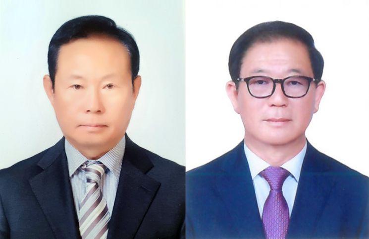 왼쪽 ㈜창일기계 황정규 대표, 오른쪽 ㈜삼광모터스 이은우 대표.(사진=BNK경남은행)
