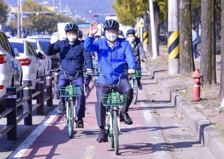 광주시, 평동산단에 제2호 생활형 자전거도로 조성